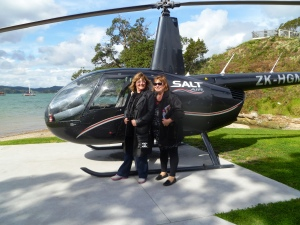 Left to Right - Leonie Clay and Julie Preston - Helicopter