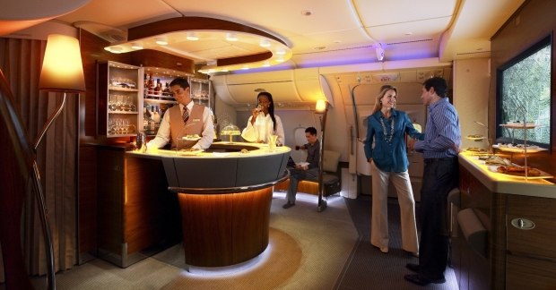 A380 First and Business Class Onboard Lounge1