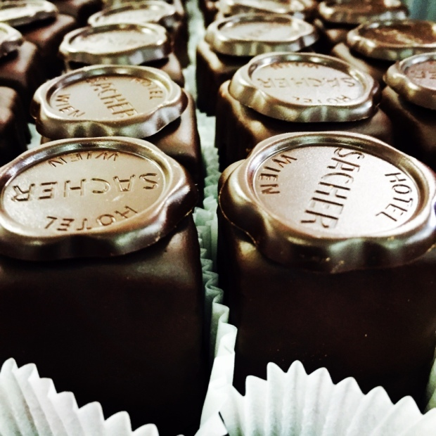 The world-famous Sacher Tortes