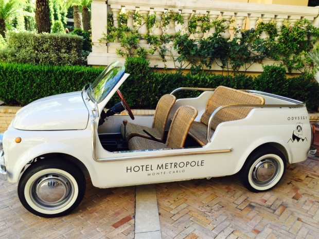Monaco's Metropole Hotel has the cutest convertible