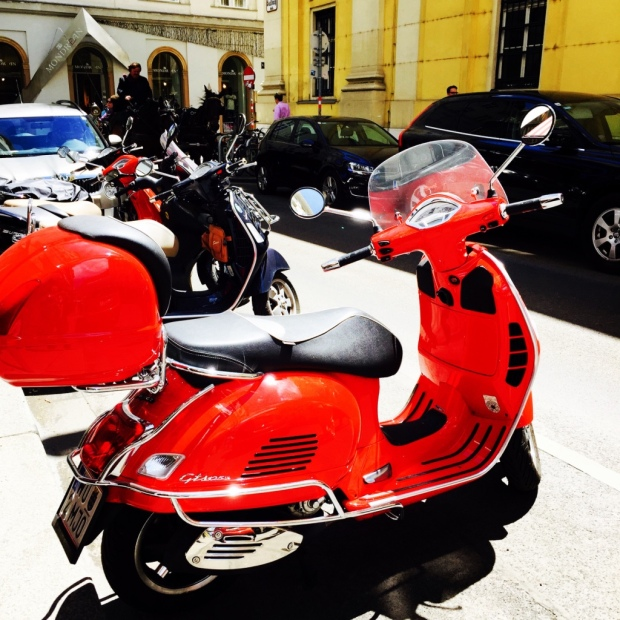 This red ride sparkled in the Vienna summer sunshine