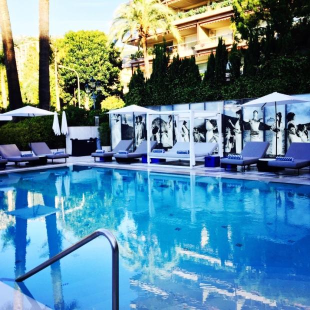 Monaco's Hotel Metropole pool was an oasis