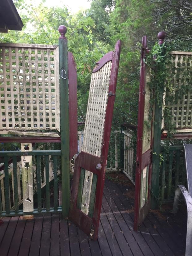 Deck doors before